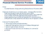 financial shared service providers