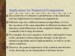 implications for numerical computation