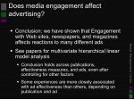 does media engagement affect advertising