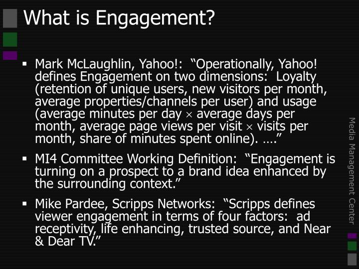 What is engagement3