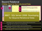 beyond relational a better store for semi structured data