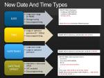 new date and time types