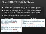 new grouping sets clause