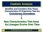 cladistic analysis