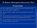 d xylose absorption excretion test21