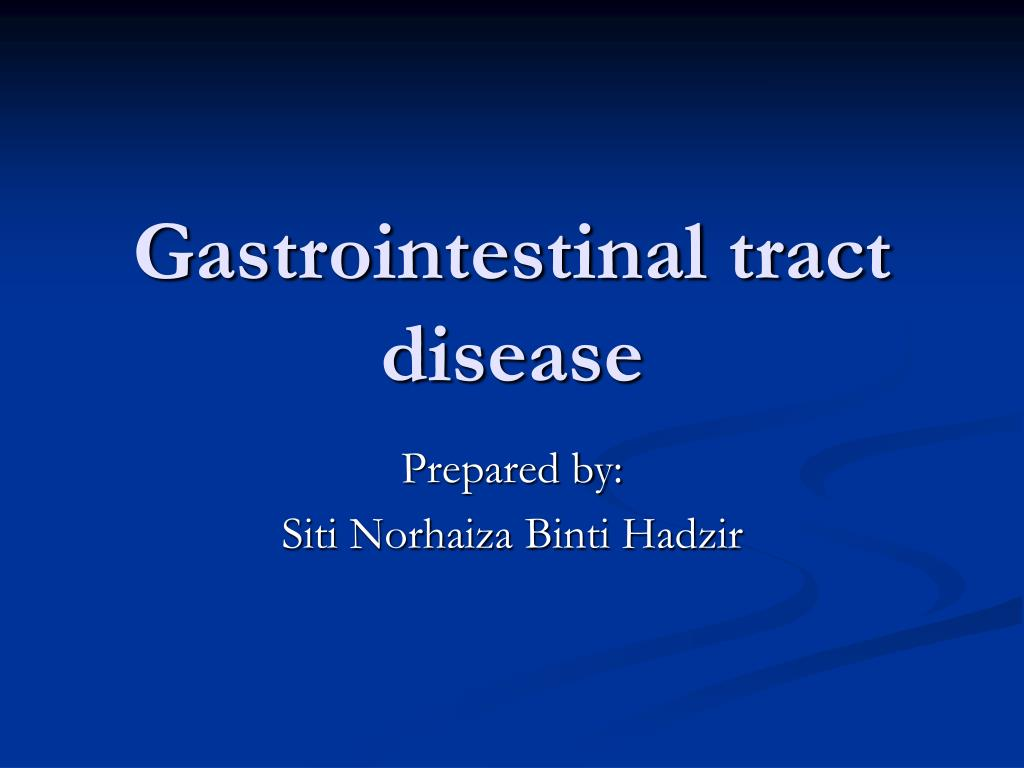gastrointestinal tract disease l.