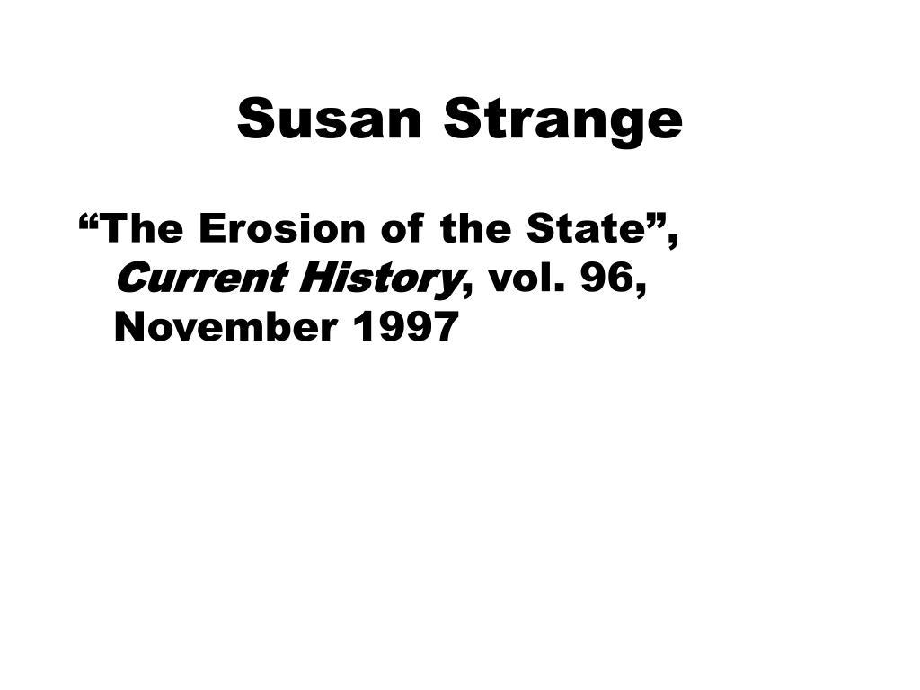 susan strange l.