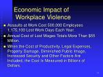 economic impact of workplace violence