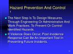 hazard prevention and control 1