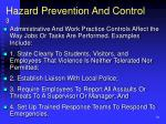 hazard prevention and control 3