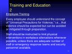 training and education 2
