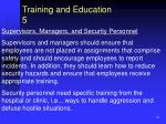 training and education 5