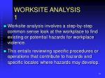 worksite analysis 1