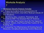 worksite analysis 7