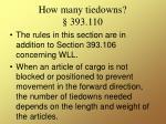 how many tiedowns 393 110