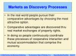 markets as discovery processes
