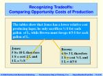 recognizing tradeoffs comparing opportunity costs of production17