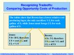 recognizing tradeoffs comparing opportunity costs of production18