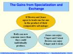 the gains from specialization and exchange
