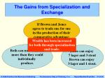 the gains from specialization and exchange21