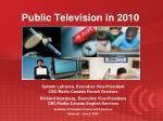public television in 20107