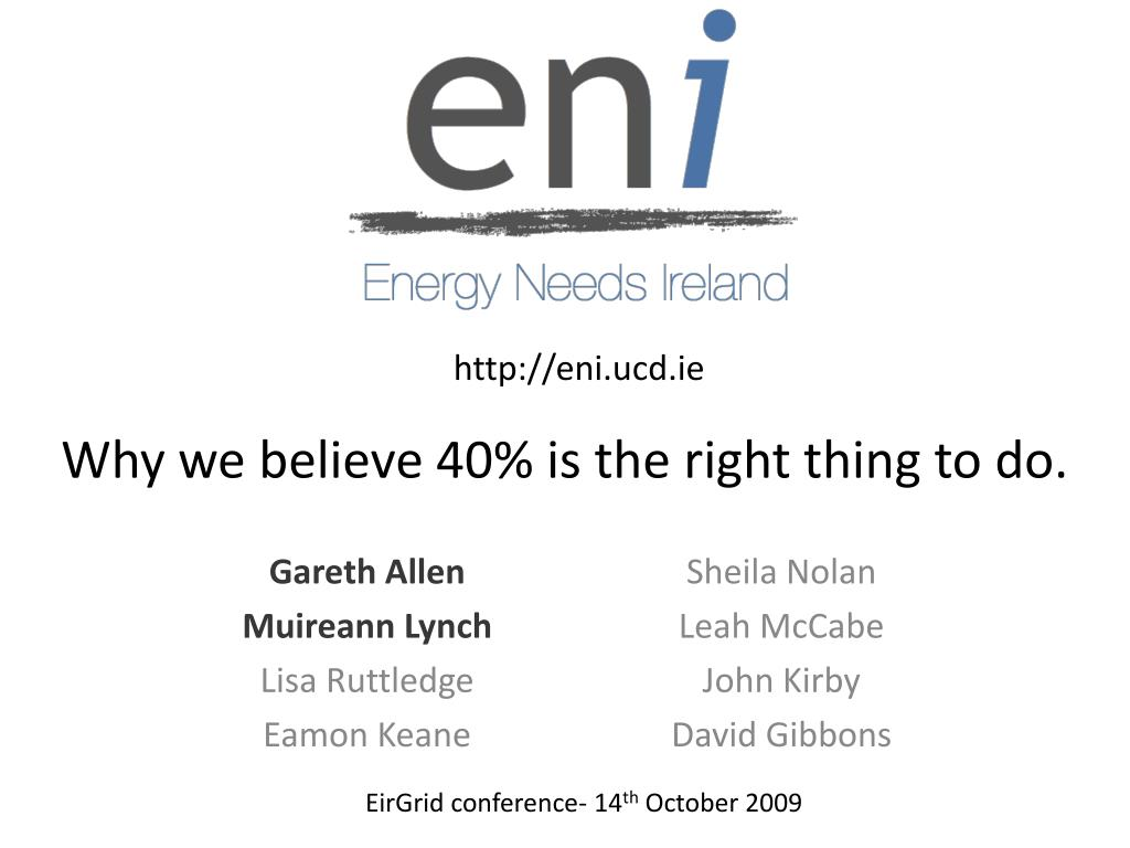 why we believe 40 is the right thing to do l.