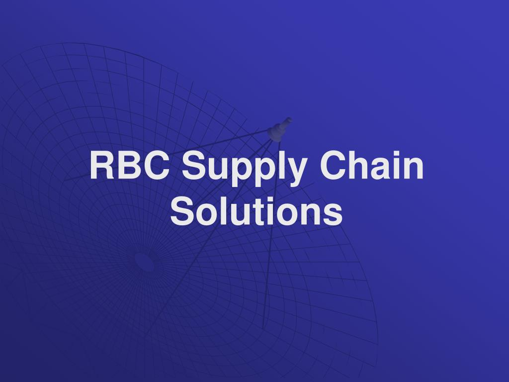 rbc supply chain solutions l.
