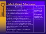 highest student achievement