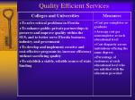 quality efficient services28