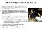 stimulants effects of abuse