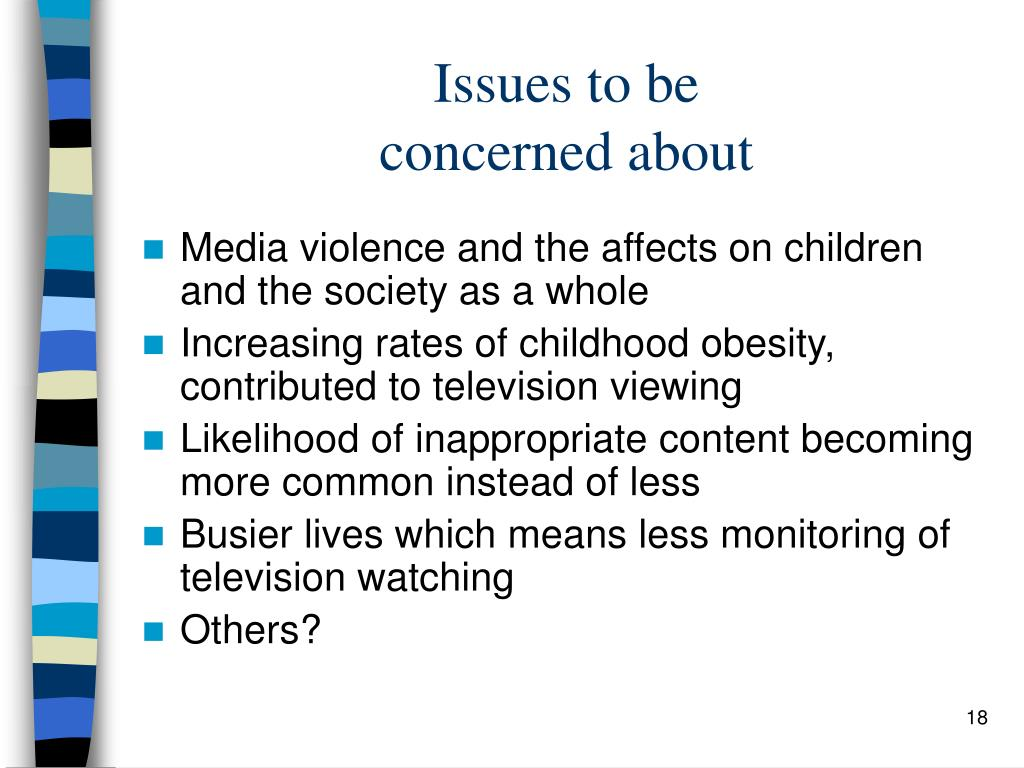an introduction to the issue of television violence and its effect on children