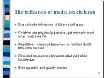 the influence of media on children