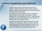 location based services defined