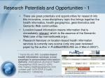 research potentials and opportunities 1