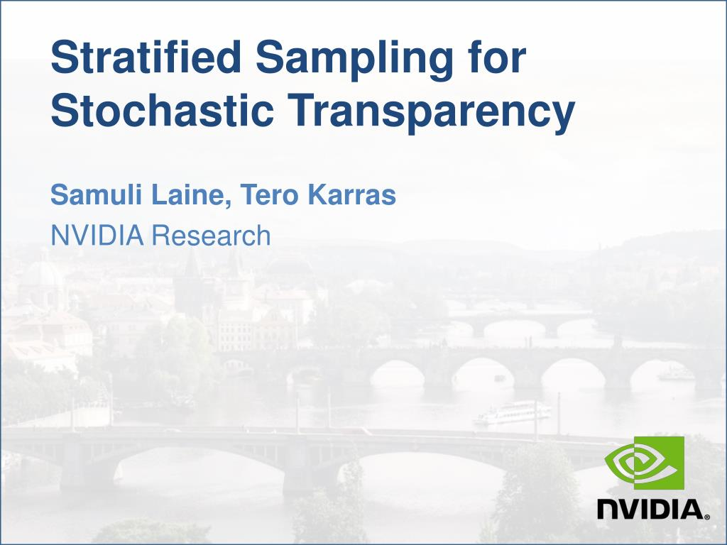 stratified sampling for stochastic transparency l.