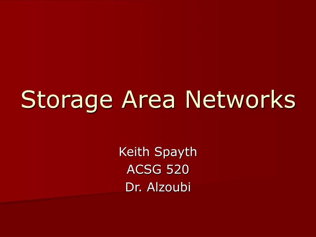 storage area networks l.