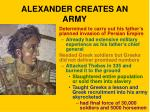 alexander creates an army