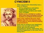 cynicism ii