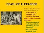 death of alexander