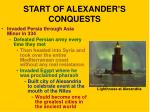 start of alexander s conquests