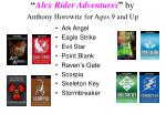 alex rider adventures by anthony horowitz for ages 9 and up