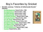 boy s favorites by snicket