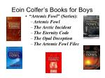 eoin colfer s books for boys