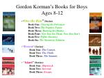 gordon korman s books for boys ages 8 12