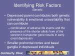identifying risk factors genetic