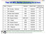 top 10 nfl series excluding pre post