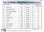 top 10 series broadcast excluding sports