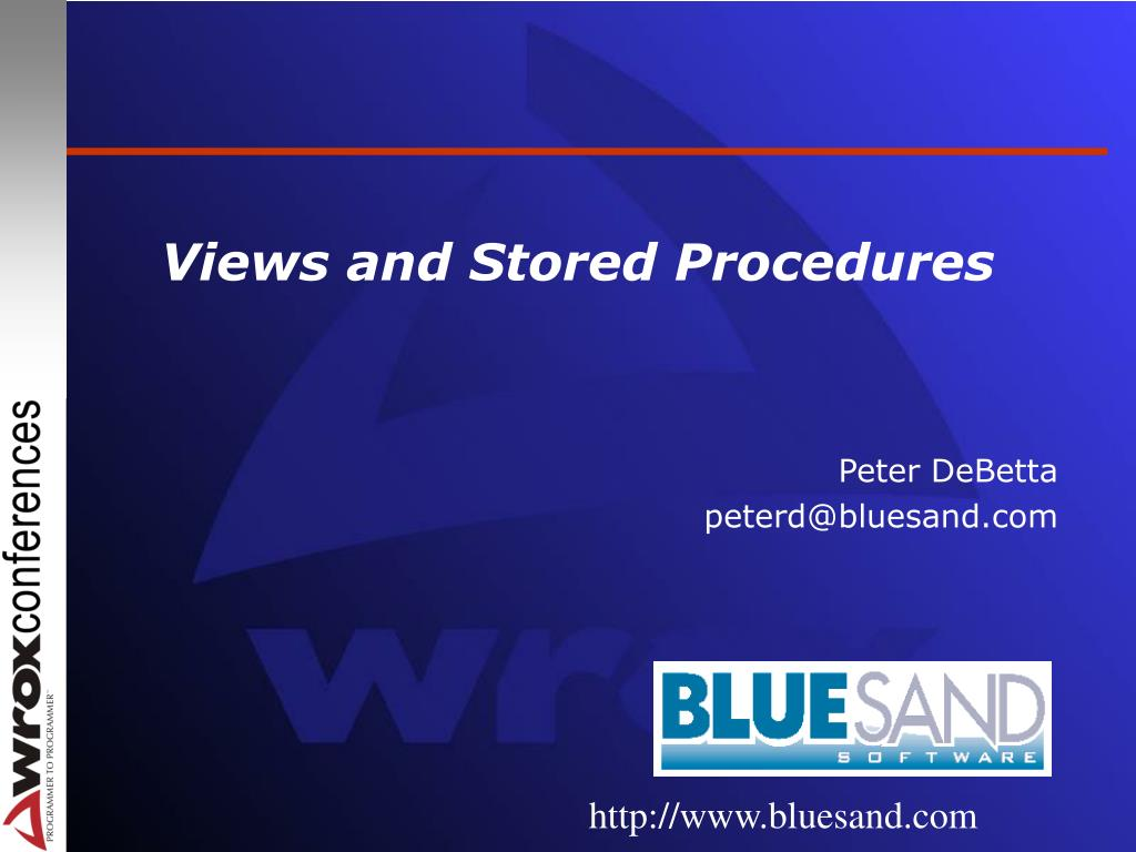 views and stored procedures l.