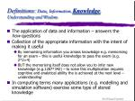 definitions data information knowledge understanding and wisdom13