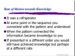 rate of motion towards knowledge6